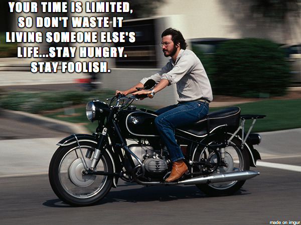 Zen and the Art of Motorcycle Maintenance via Steve Jobs