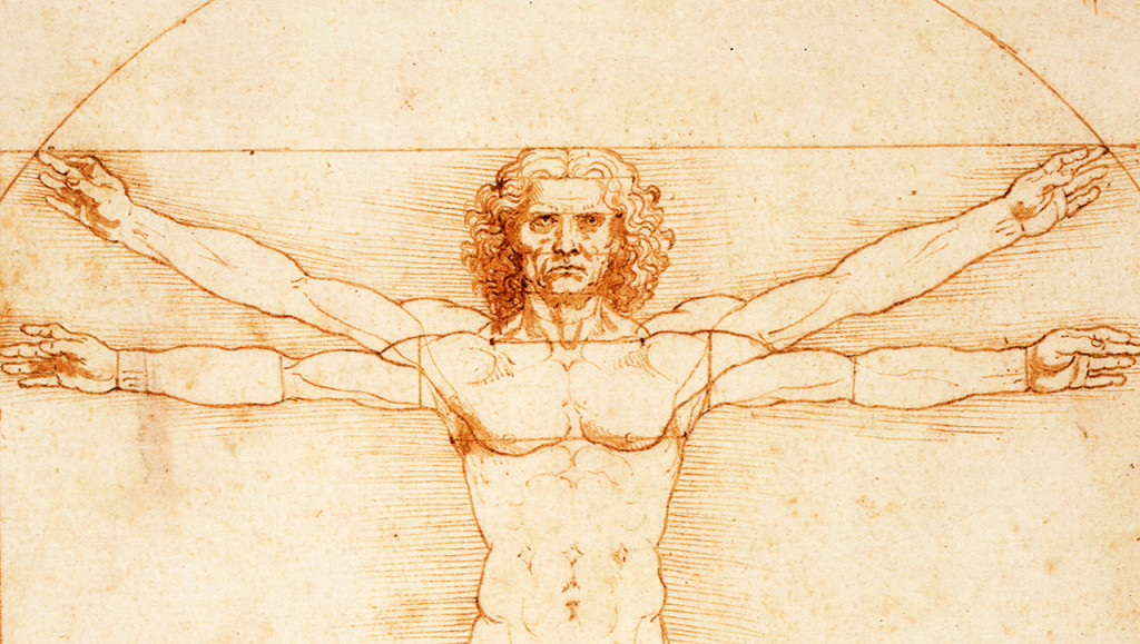 "A picture of Leonardo da Vinci's ""Vitruvian Man"" prefacing a blog-post concerning Electronic Medical Records, Cerner Corporation, Department of Defense, and Veterans Administration Interoperability."