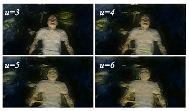 A screenshot from Come Swim, demonstrating groundbreaking use of machine-learning in motion picture.