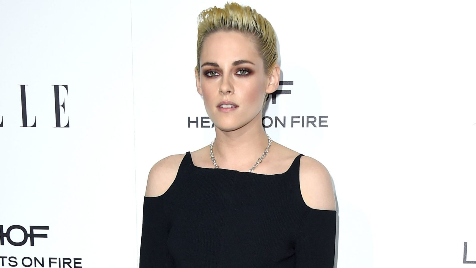 A picture of Kirsten Stewart at her directorial debut premier of Come Swim.