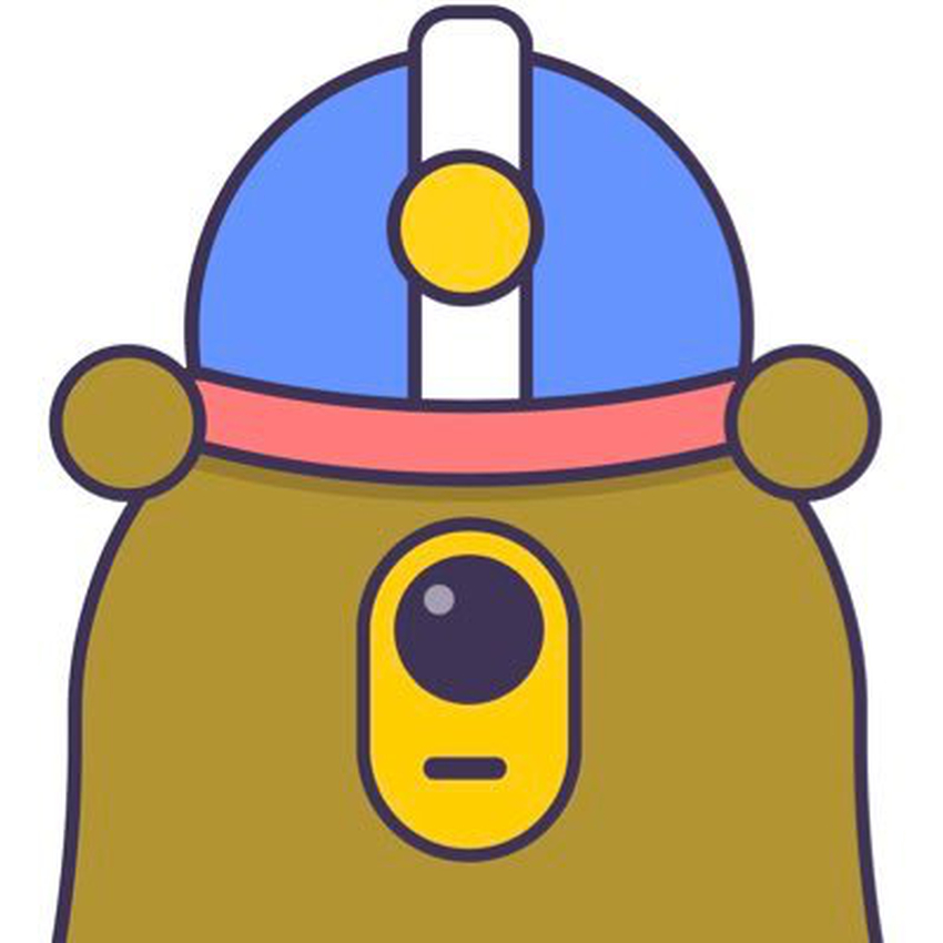A honeyminer diggy the bear logo.